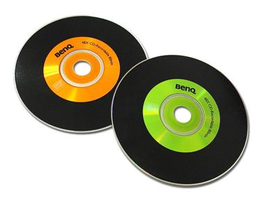 明基仿黑胶唱片的刻录盘 FUNKY