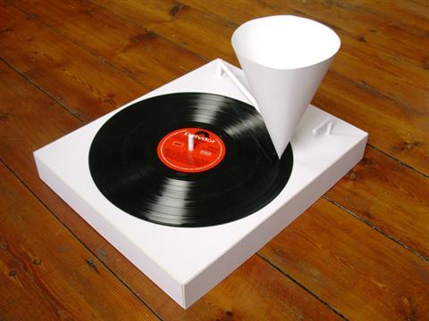 纸制唱片机