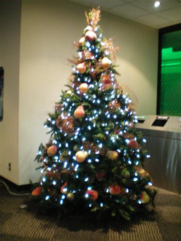 CN Tower 上的圣诞树