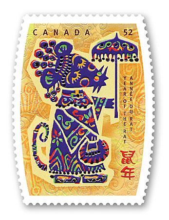 加拿大邮政鼠年邮票