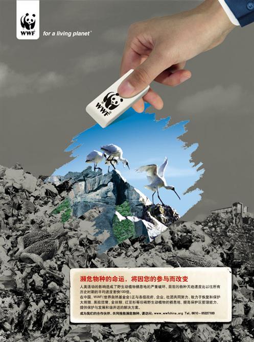 世界自然基金会的公益广告
