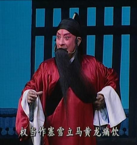 孙岳在《满江红》中为自己配像