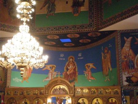 教堂里的希腊壁画