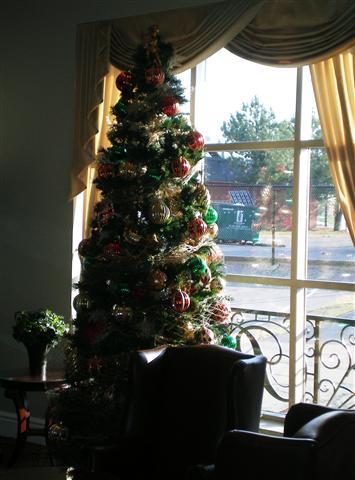 酒店里的圣诞树