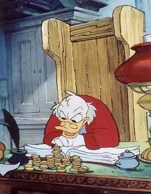 史高治在动画片版《圣诞颂歌》扮演的吝啬鬼